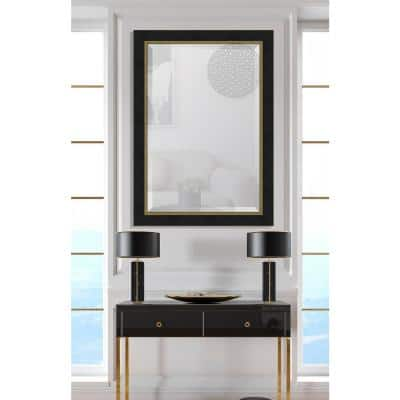 Large Rectangle Black Beveled Glass Contemporary Mirror (42 in. H x 30 in. W)