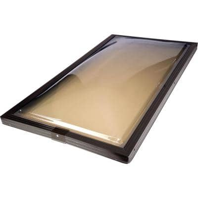 22-1/2 in. x 46-1/2 in. Fixed Curb Mount Polycarbonate Skylight with Aluminum Frame