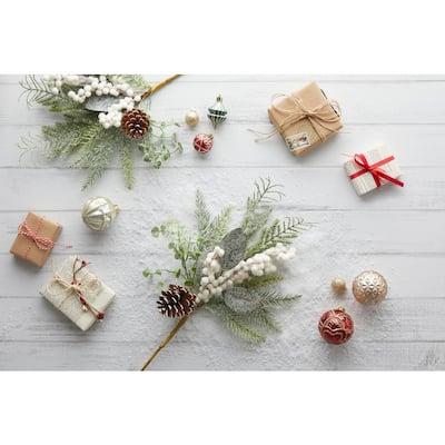 Ashford Meadows 16 in. Decorative Pick Arrangement, Snow