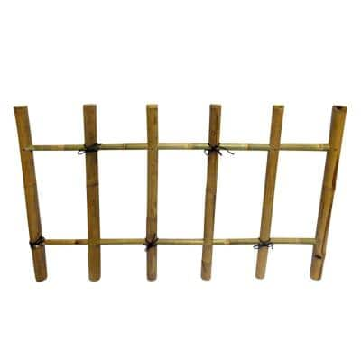 36 in. H x 60 in. L Bamboo Post and Rail Fence