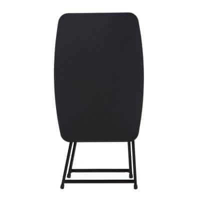 18 in. Black Plastic Adjustable Height Folding Utility Table