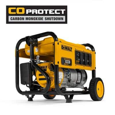 4,000-Watt Gasoline Powered Manual Start Portable Generator with Premium Engine, Covered Outlets and CO Protect