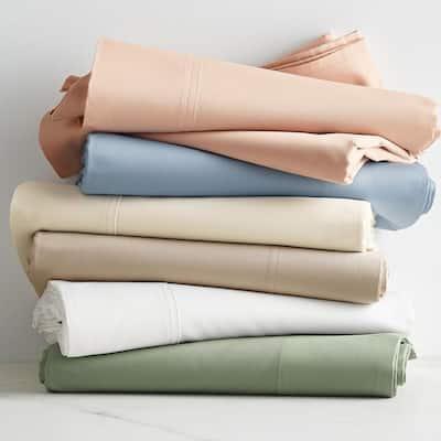 300-Thread Count Bamboo Cotton Sateen Pillowcase (Set of 2)