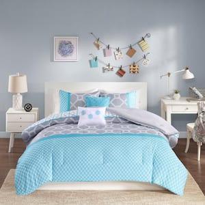 Zara 5-Piece Blue King Comforter Set