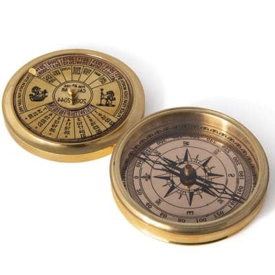 Maisie 40-Year Calander Compass in Gold Polished