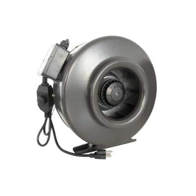 188 CFM 4 in. Centrifugal Inline Duct Fan with Variable Speed Controller for Indoor Garden Ventilation