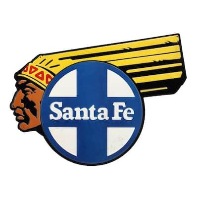 Santa Fe Embossed Tin Sign
