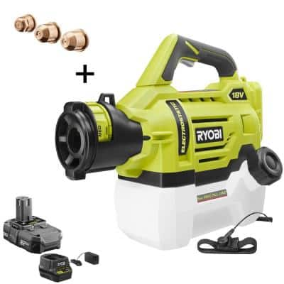 ONE+ 18V Cordless Electrostatic 0.5 Gal. Sprayer with Extra Low/Medium/High Nozzles with 2.0 Ah Battery and Charger