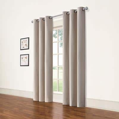 Excru Grommet Blackout Curtain - 42 in. W x 84 in. L