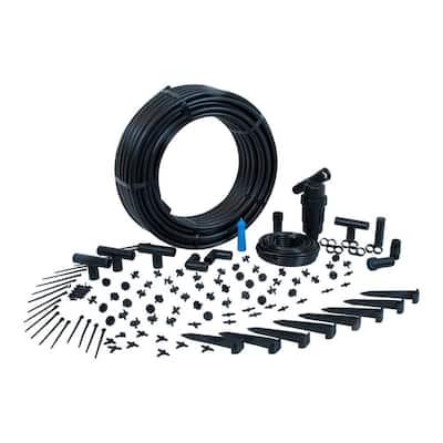 Complete Drip Kit for Rain Barrel Irrigation (for 50 Plants)