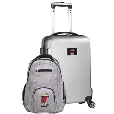 Miami Heat Deluxe 2-Piece Backpack and Carry on Set