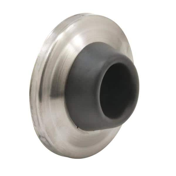 Brushed Stainless Wall Door Stop, Round Door Stopper For Wall