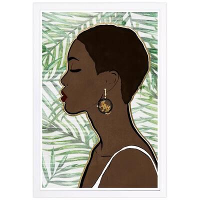 Tropical Queen' Framed People Art Print 19 in. x 13 in.