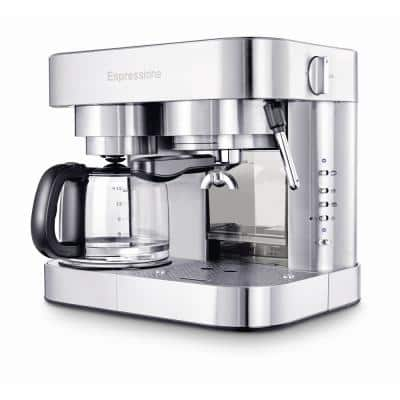 10-Cup Stainless Steel Coffee Maker and Espresso Machine