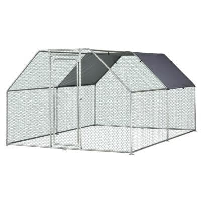 9 ft. x 12 ft. x 6 ft. Outdoor Heavy-Duty Galvanized Steel Carport Cage Canopy and Shelter Enclosure