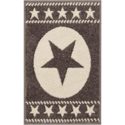 Mystic Sparrow Novelty Brown 20 in. x 31. in Accent Door Mat