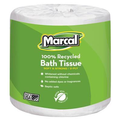 4.1 in. x 3.7 in. Sheet White Bath Tissue 2-Ply (48 Rolls)
