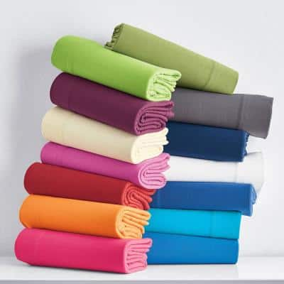 Jersey Knit Cotton Fitted Sheet