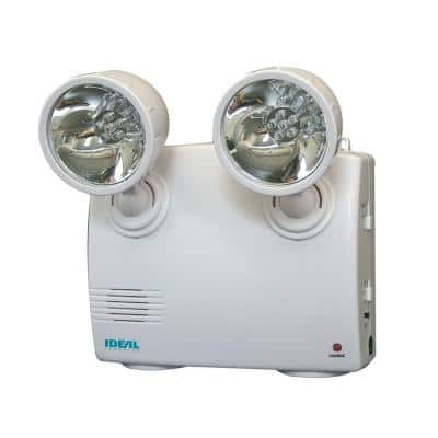 White 2-Lamp Blackout and Power Failure 6 LED Safety Light