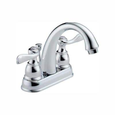 Windemere 4 in. Centerset 2-Handle Bathroom Faucet with Metal Drain Assembly in Chrome