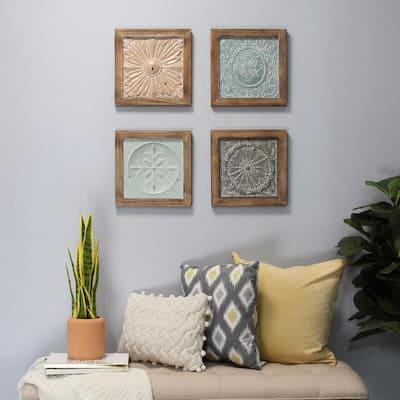 Boho Tiles Wall Decor (Set of 4)