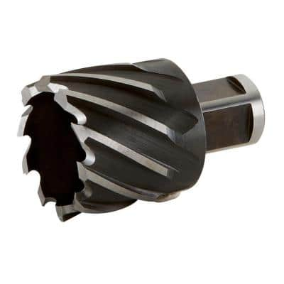 1-9/16 in. x 1 in. High Speed Steel Annular Cutter With With 3/4 in. Weldon Shank