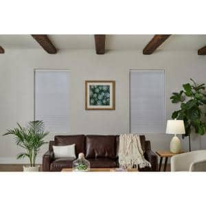 White Cordless Blackout Cellular Shade  - 28 in. W x 48 in. L (Motorization Compatible)