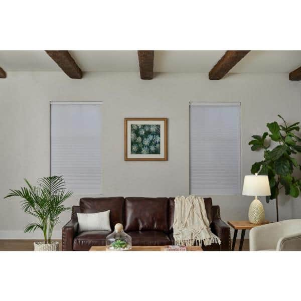 Home Decorators Collection White Cordless Blackout Cellular Shade 70 In W X 48 In L Motorization Compatible 10793478344222 The Home Depot