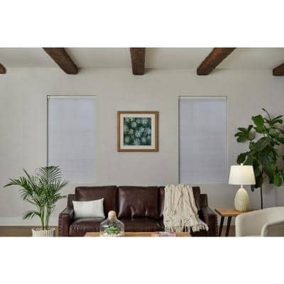 White Cordless Blackout Cellular Shade - 27 in. W x 72 in. L (Motorization Compatible)
