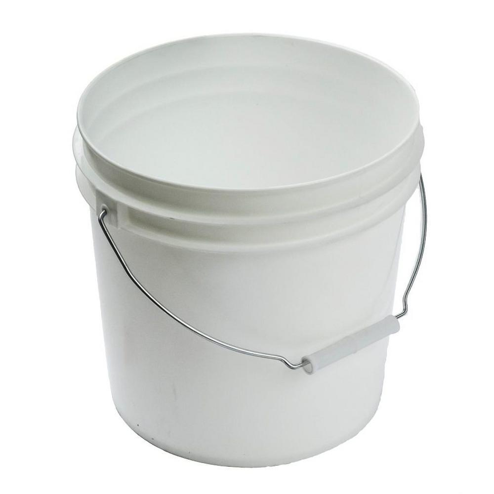 2 gal. White Plastic Bucket