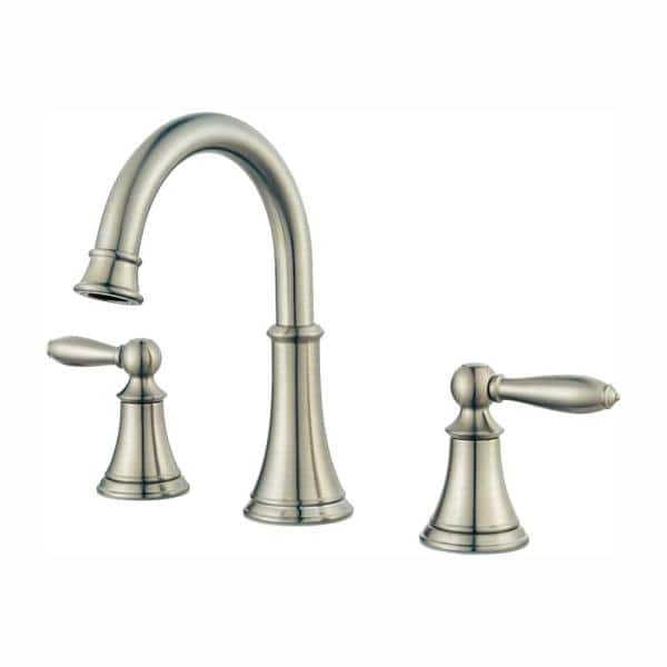 Widespread 2-Handle Bathroom Faucet in Brushed Nickel Pfister Courant 8 in