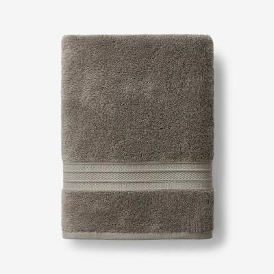 Cotton TENCEL Lyocell Taupe Solid Bath Towel