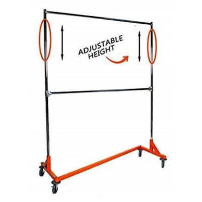 Orange Steel Clothes Rack 65 in. W x 9 in. H