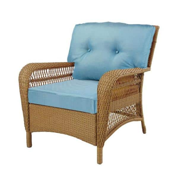 Hampton Bay Charlottetown Washed Blue, How To Make Replacement Cushions For Outdoor Furniture