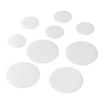 Non Slip Tub Tread Circles in White in (10-Pack)