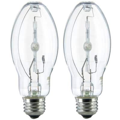 70-Watt ED17 Pulse Start Metal Halide Medium E26 Base 5,600 Lumen HID Light Bulb in Cool White 4000K (2-Pack)