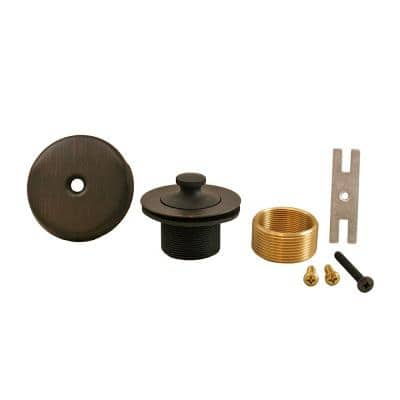 Lift and Turn Bath Tub Drain Conversion Kit with 1-Hole Overflow Plate in Old World Bronze