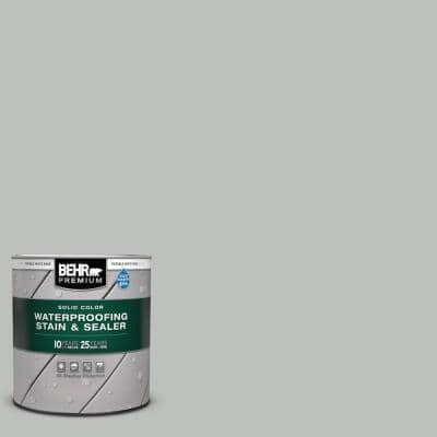 1 qt. #SC-365 Cape Cod Gray Solid Color Waterproofing Exterior Wood Stain and Sealer