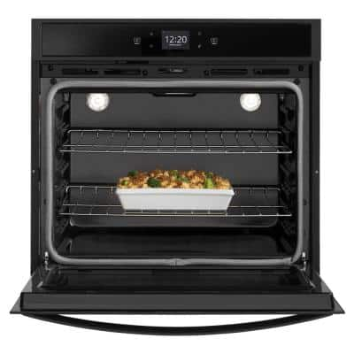 27 in. Single Electric Wall Oven in Black