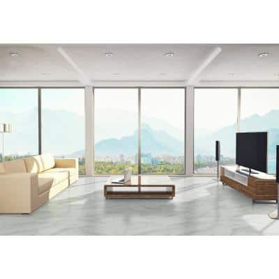 Kolasus White 12 in. x 24 in. Polished Porcelain Floor and Wall Tile (2 sq. ft. )