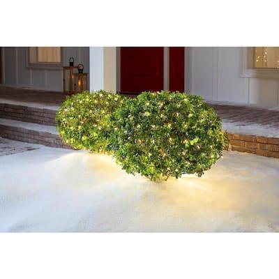 4 ft. x 6 ft. 150-Light LED Warm White Smooth Mini Net Light Super Bright Constant String Lights