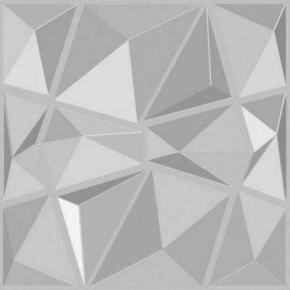 Diamond 3D Fiber Wall Paneling (20 in. x 20 in. Per Piece, 12-Piece)