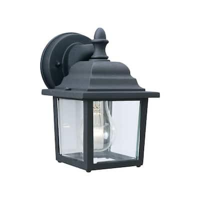Hawthorne 1-Light Black Outdoor Wall Lantern Sconce