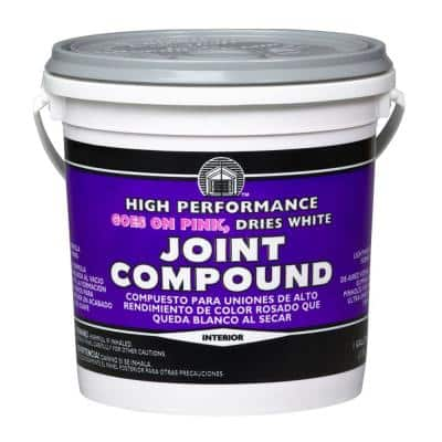 1 gal. High Performance Joint Compound Gallon, Goes on Pink, Dries White