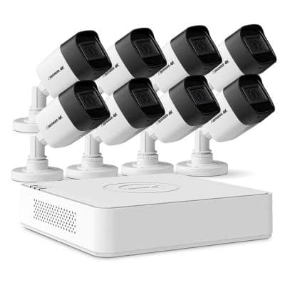 8-Channel Ultra HD 4K (8 MP) 2TB DVR Wired Security Camera System with Remote Viewing and 8 Cameras