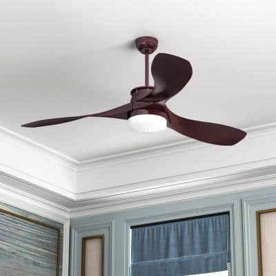48 in. Integrated LED White Indoor Ceiling Fan with Light and Remote Control 3 Blades