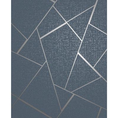Quartz Navy Fractal Navy Wallpaper Sample