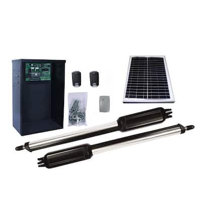 Dual Swing Automatic Gate Opener Kit with 10-Watt Solar Panel