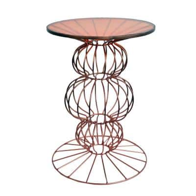 Oriane Copper Spherical Base Side Table