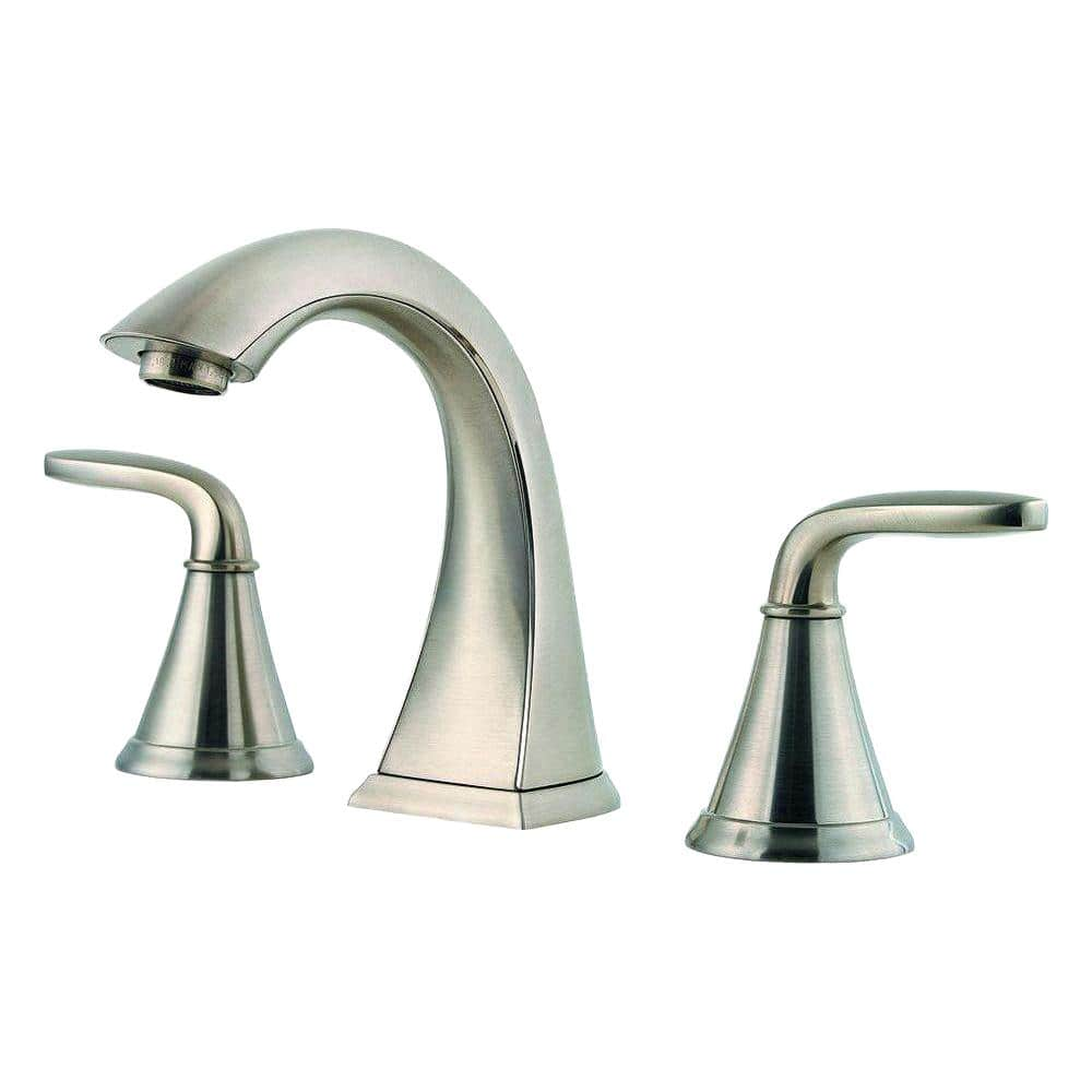 Pfister Pasadena 8 In Widespread 2 Handle Bathroom Faucet In Brushed Nickel Lf 049 Pdkk The Home Depot